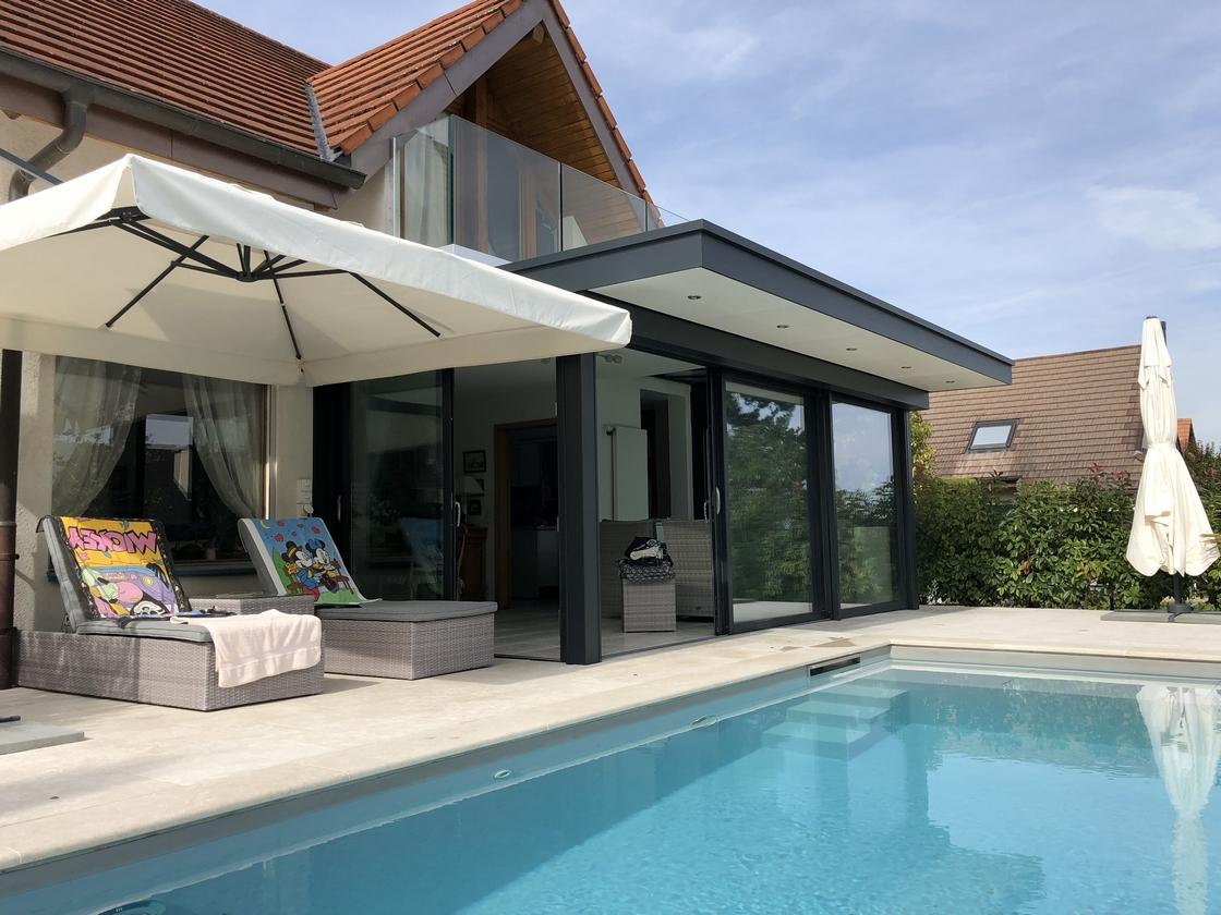Véranda extension et piscine
