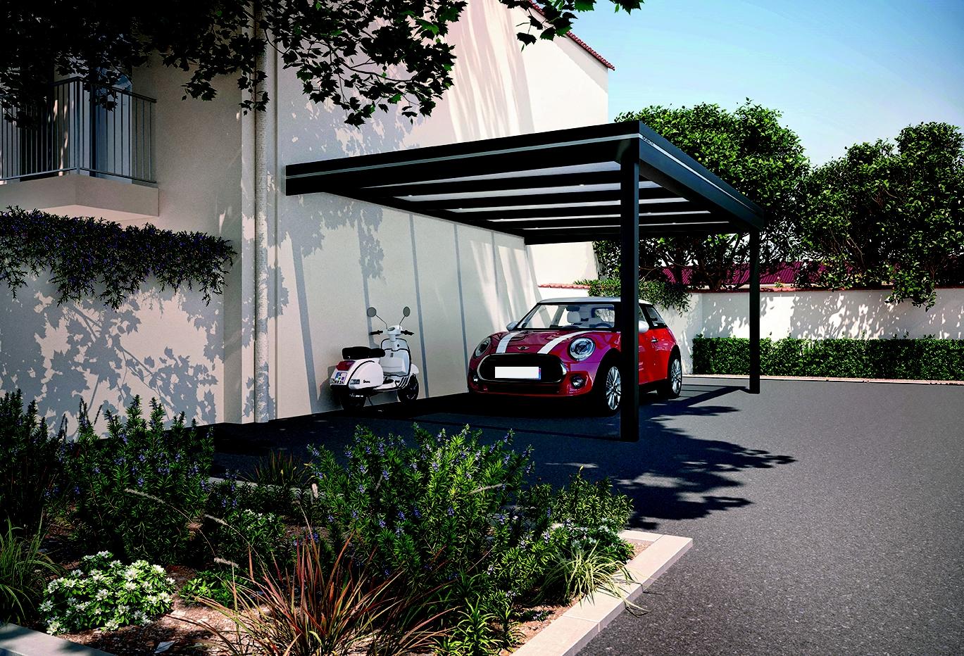 garage ouvert pour voiture et bateau