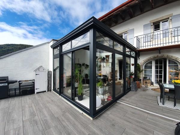 Un jardin d'hiver aluminium